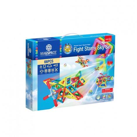 Joc Magnetic Educativ de Constructie 3D cu 66 piese