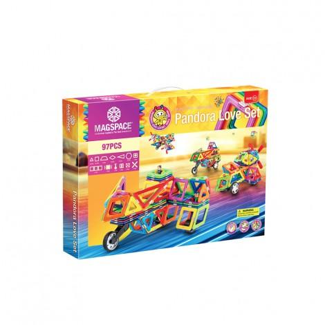 Joc Magnetic Educativ de Constructie 3D cu 97 piese