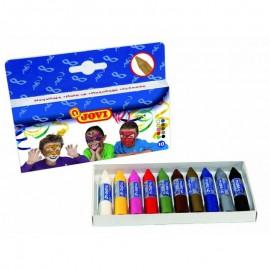 Creioane de pictat pe fata set de 10 culori