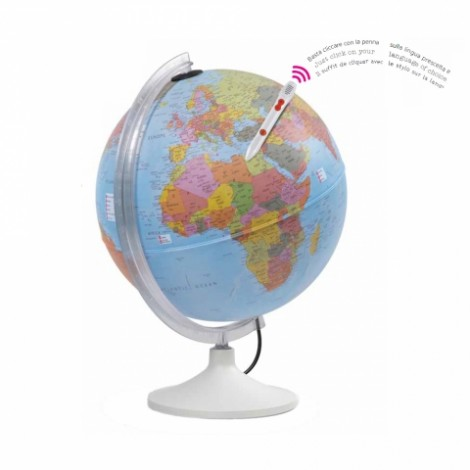 Glob pamantesc interactiv Parlamondo 30 cm, cu creion vorbitor