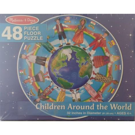 Melissa & Doug - Puzzle Copii in jurul lumii 48 piese