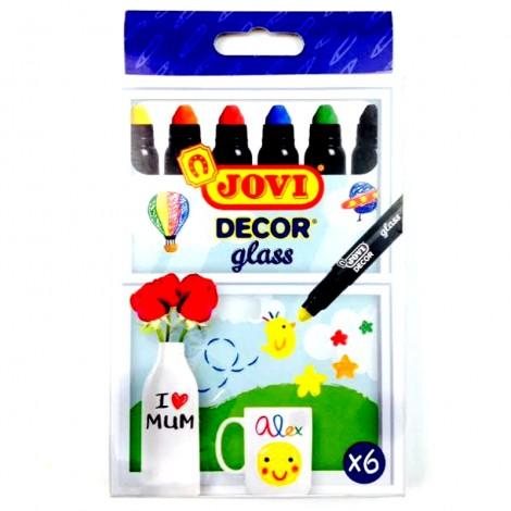 Marker pentru sticla set de 6 culori