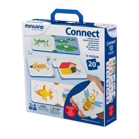 Miniland - Joc de asociere Animalele si mediul de viata