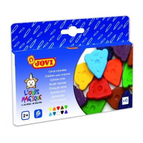 Set 10 creioane colorate triunghiulare