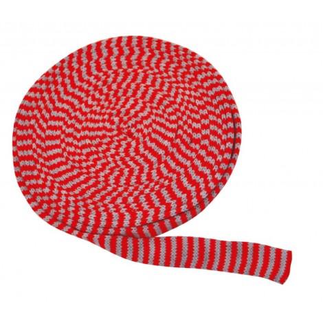 Tricot cilindric alb-rosu
