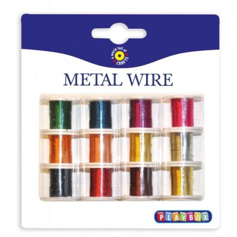 Set 12 culori sarma metalica