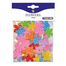 Set 100 flori din material textil