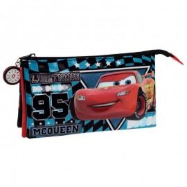 Penar 22 cm 3 compartimente Cars Glitter