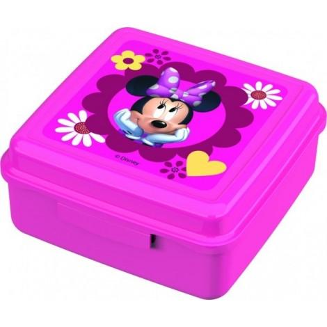 Caserola cu capac pentru gustari BBS Minnie Mouse din plastic