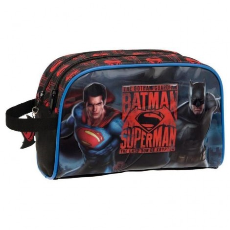Borseta 26 cm 2 comp. Superman - Batman