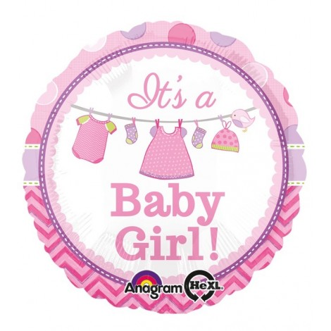 Balon Baby Girl Folie 45 Cm