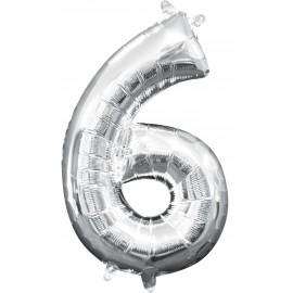 Balon Folie Mini Cifra 6