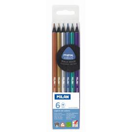 Creion color 6 Metalizat