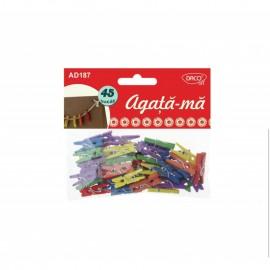 Clestisori de rufe colorati - Piscatori lemn Agata-ma