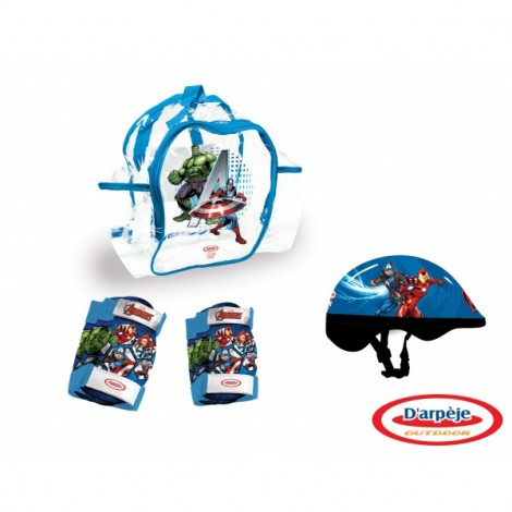 AVENGERS - SET PROTECTIE in rucsac (CASCA, GENUNCHIERE, COTIERE)