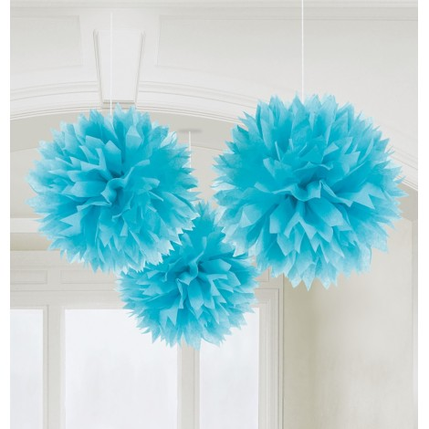 Decoratiuni Pom Pom Bleu 3 Buc