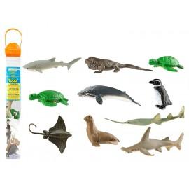 Tub cu 10 figurine - Specii Marine pe cale de disparitie