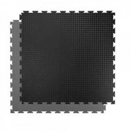 Pardoseala puzzle pentru interior - Gri - Negru
