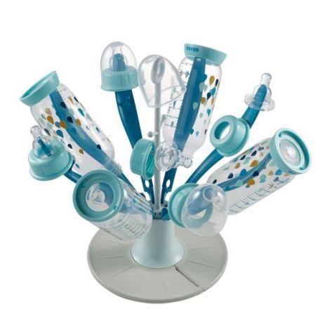 Uscator pliabil biberoane Floare Bleu