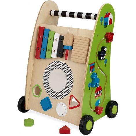 Premergator din lemn cu centru de joaca Push Along
