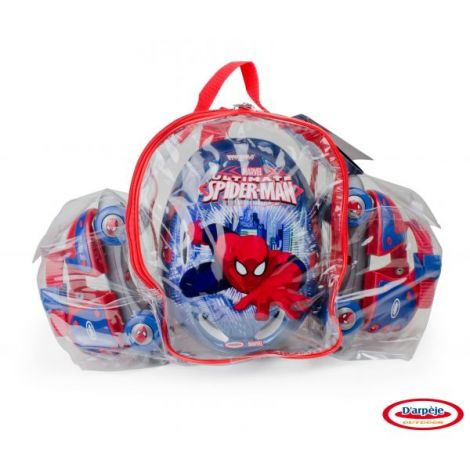 SPIDERMAN - SET (PATINE CU ROTILE, CASCA, GENUNCHIERE, COTIERE)