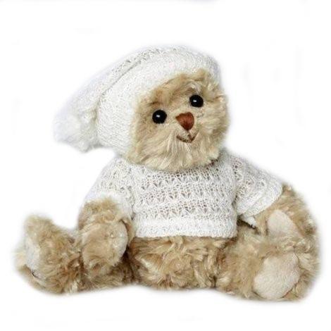 Ursulet de plus Elias cu pulover si caciulita Bukowski