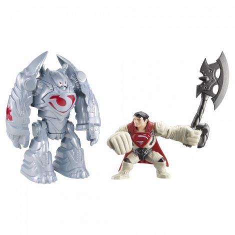 Figurina lansatoare Man of Steel si vehicul Robot Atack