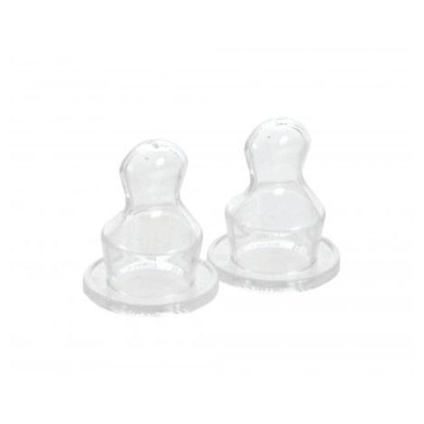Set 2 tetine silicon ortodontice pentru lichide groase