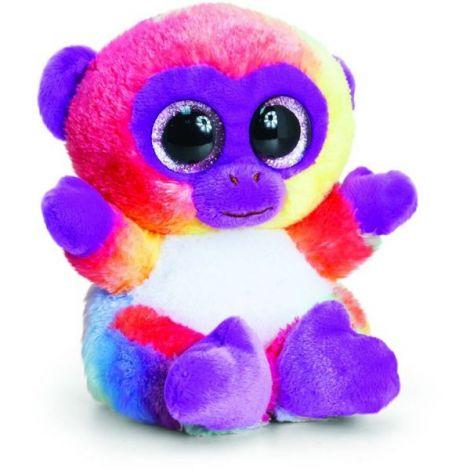 Maimutica de plus Animotsu Rainbow Monkey 15 cm Keel Toys