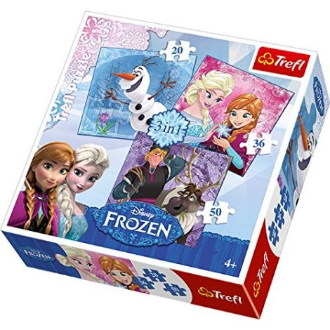 Puzzle Frozen 3 in 1 Trefl