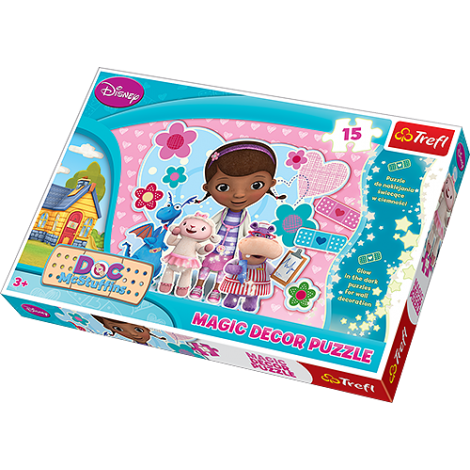 Puzzle Plusica Doc McStuffins Magic Decor 15 piese Trefl