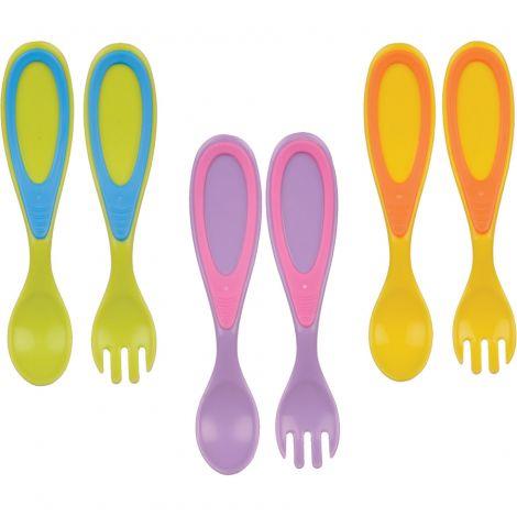Set tacamuri lingura si furculita - diverse culori