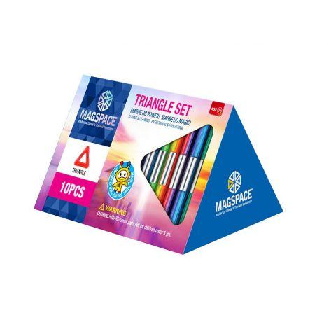 Joc Magnetic Educativ de Constructie 3D cu 10 piese - Triangle Set
