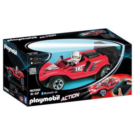 Masina de curse cu telecomanda, rosie