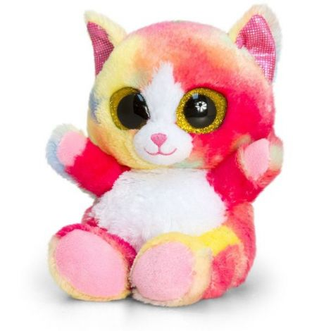 Pisica de plus Rainbow Animotsu 25 cm Keel Toys