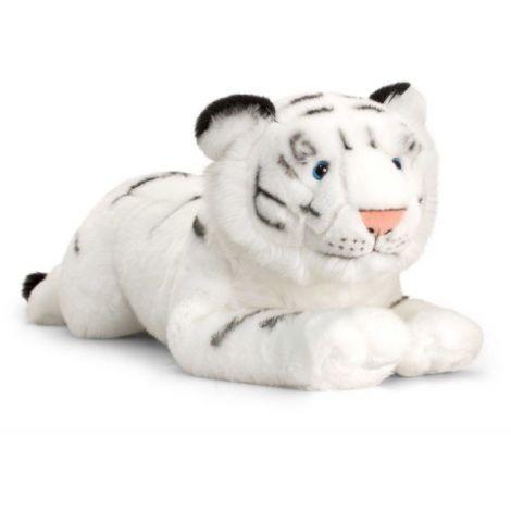 Tigru alb de plus Wild 58 cm Keel Toys