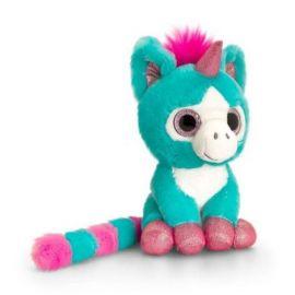 Unicorn de plus Turquoise cu ochi stralucitori 14 cm Keel Toys