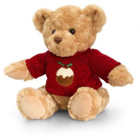 Ursulet de plus cu pulover 20 cm Christmas Pip the Bear Keel Toys