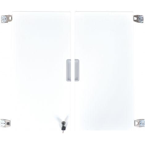 Set 2 usi albe marime medie cu incuietoare