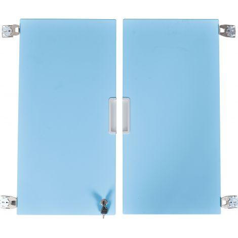 Set 2 usi bleu marime medie cu incuietoare
