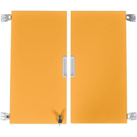 Set 2 usi portocalii marime medie cu incuietoare