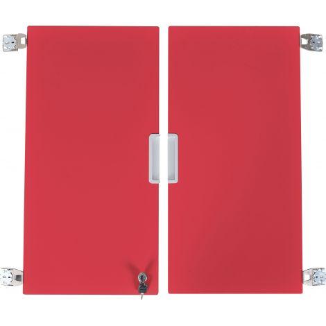 Set 2 usi rosii marime medie cu incuietoare