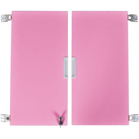 Set 2 usi roz deschis marime medie cu incuietoare
