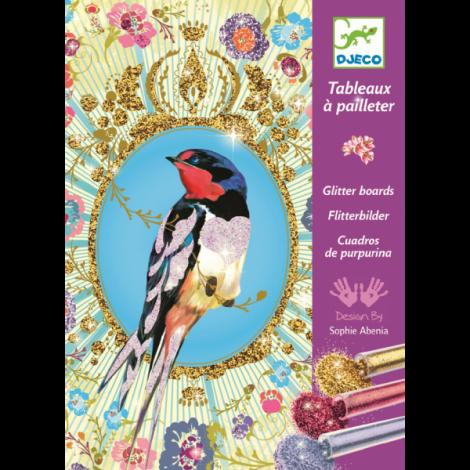 Atelier creativ cu sclipici, Păsări