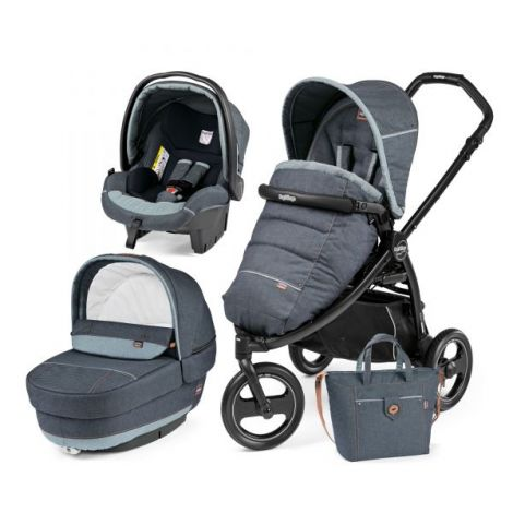 Carucior 3 in 1, Peg Perego, Book Scout, Matt Black, Elite Modular