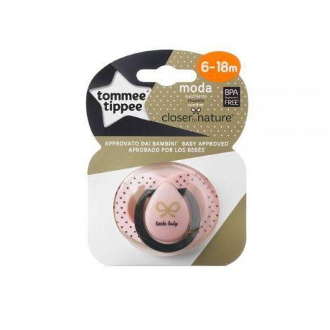 Suzeta Ortodontica Moda, Tommee Tippee, Roz, 6-18 luni