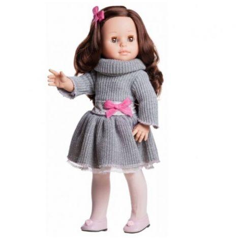 Papusa Emily in rochie gri tricotata - Paola Reina