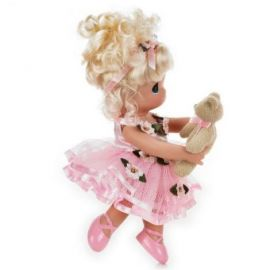 Papusa decor, Danseaza cu mine - blonda, 23 cm - Precious Moments
