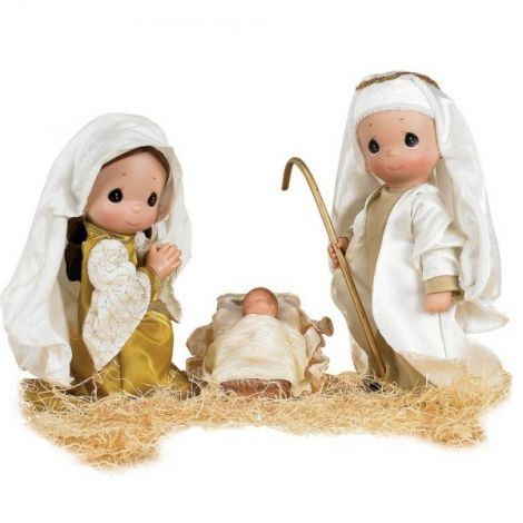 Set papusi decor, Primul Craciun, 23 cm - Precious Moments