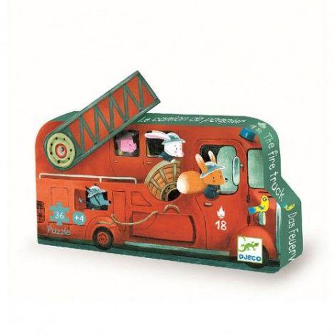 Puzzle Djeco - Mașina de pompieri